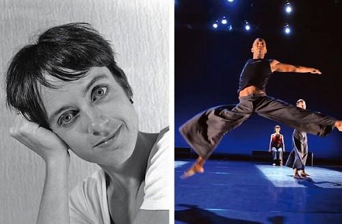 """Left: Charlotte Boye-Christensen; Right: performance of """"Bridge"""""""