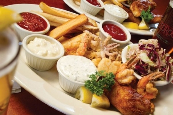 Red Rock Brewery's seafood platter