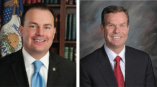 Sen. Mike Lee (left) and Utah Attorney General John Swallow (right)