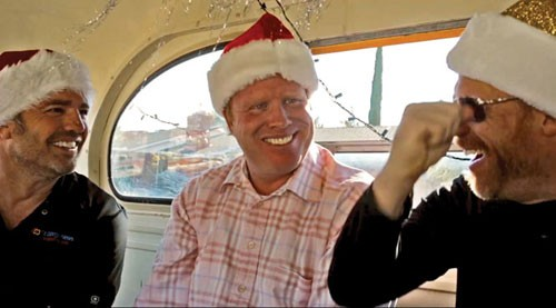 Spreading good cheer in St. George: Jeremy Johnson dons a Santa Claus hat in a December 2014 No Filter Show video posted on  StGeorgeUtah.com