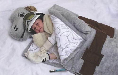 Tauntaun sleeping bag from ThinkGeek.com