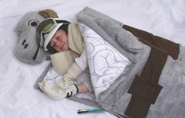 Tauntaun sleeping bag from ThinkGeek.com