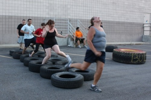 The boot-camp tire run at Gold's Gym gets easier each time. - WINA STURGEON