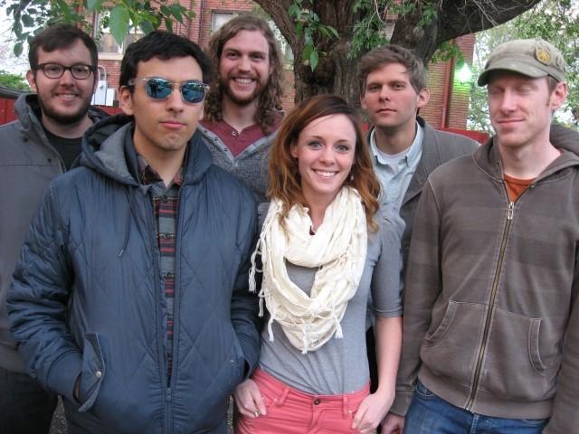 The original L'anarchiste lineup at Kilby: (left to right) Jacob Hall, Erik Maloy, Rob LeCheminant, Melissa Lapray, Jake Burch and Alex Gilvarry - GAVIN SHEEHAN