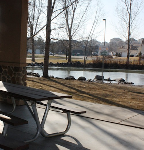 THE WINCHESTER PAVILION DUCK POND ALONG THE JORDAN RIVER PARKWAY, 1220 W. WINCHESTER ST., SALT LAKE CITY - WINA STURGEON