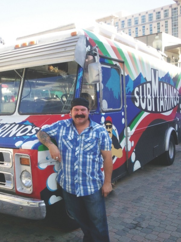 Tony Marino, co-owner of the Submarinos food truck. - DEREK CARLISLE