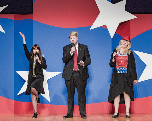 Capitol Steps cast members take on the Trump administration - VIOLET CROWN