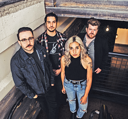 Left to right: Ken Vallejos, Matt Mascarenas, Sadie O'Neill - and Chase Griffis of City Ghost - AMBER DWYER