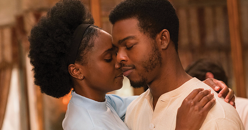 KiKi Layne and Stephan James - in If Beale Street Could Talk - ANNAPURNA FILMS