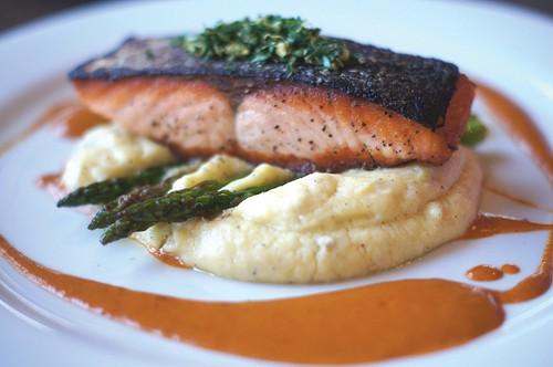 Campfire Grill's Pan-Seared Fresh Atlantic Salmon
