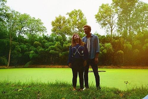 Sylvan Esso's Amelia Meath and Nick Sanborn. - SHERVIN LAINEZ