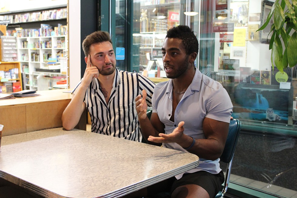 Through Masc4Masc, Trent Morrison, left, and Chris Glaittli hope to add to the local LGBTQ conversation. - ENRIQUE LIMÓN