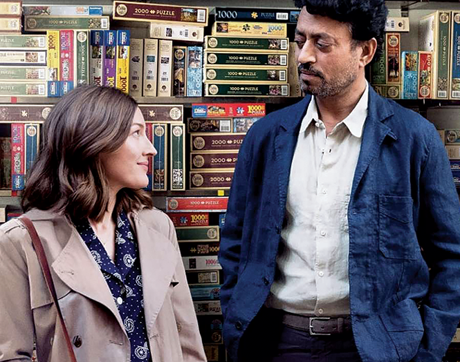 Kelly Macdonald and Irrfan Khan in Puzzle. - SONY PICTURES CLASSICS