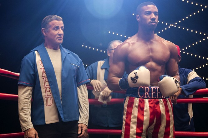 Sylvester Stallone and Michael B. Jordan in Creed II - MGM PICTURES