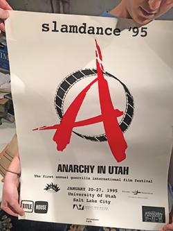 Poster created for first Slamdance Film Festival in 1995. - DAN MIRVISH