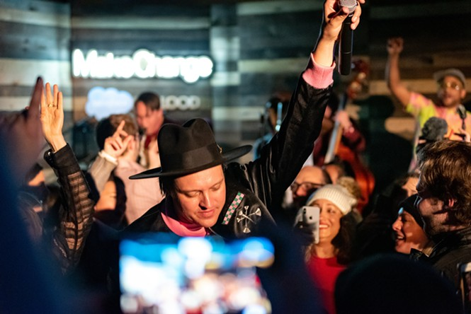 Win Butler of Arcade Fire at Salesforce Music Lodge - TOMMY ELBRECHT