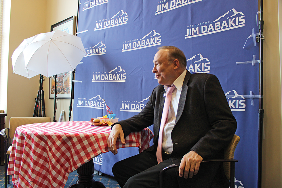 """Salt Lake City mayoral hopeful Jim Dabakis says his arguments on the Take 2 podcast allow him to preach his liberal doctrine to a conservative choir. """"We as liberals and progressive people are too silent,"""" he says, adding that he thinks he bests his counterpart, Greg Hughes, most of the time. - ENRIQUE LIMÓN/FILE"""