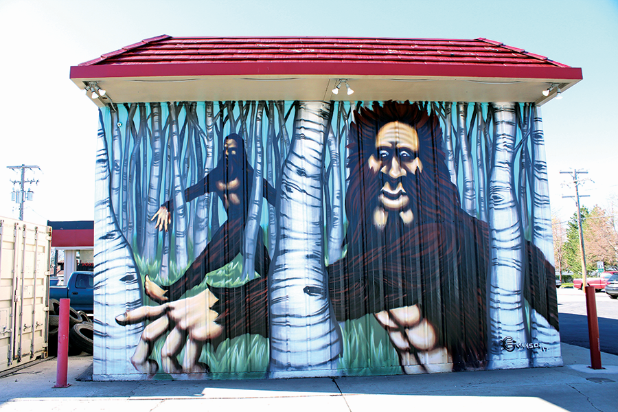 Bigfoot mural on 3300 South by Gerry Swanson - ENRIQUE LIMÓN