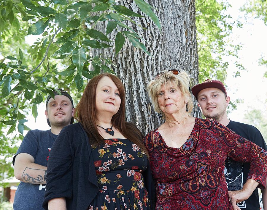 Left to right: Austin Mueller, Kathy Mueller, Ruby Kohtz and Dylan Mueller - STEVEN VARGO