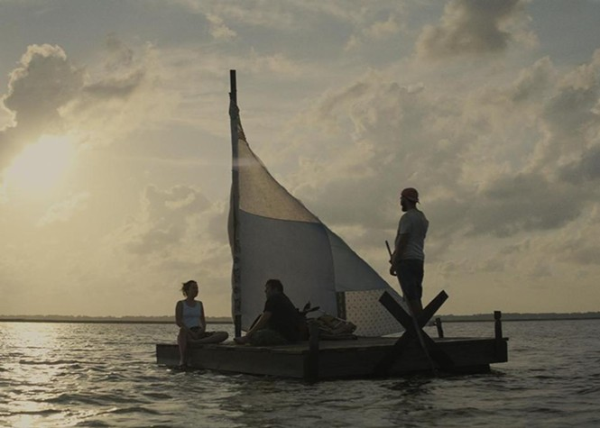 Dakota Johnson, Zack Gottsagen and Shia LaBeouf in The Peanut Butter Falcon - ROADSIDE ATTRACTIONS