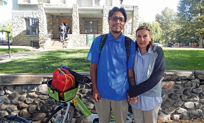 Michael and Erica Duran pictured outside the Good Samaritan House. - PETER HOLSLIN