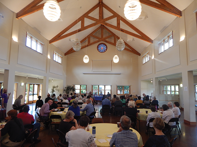 Dozens service providers and homeless advocates attended August's Poverty Summit. - PETER HOLSLIN