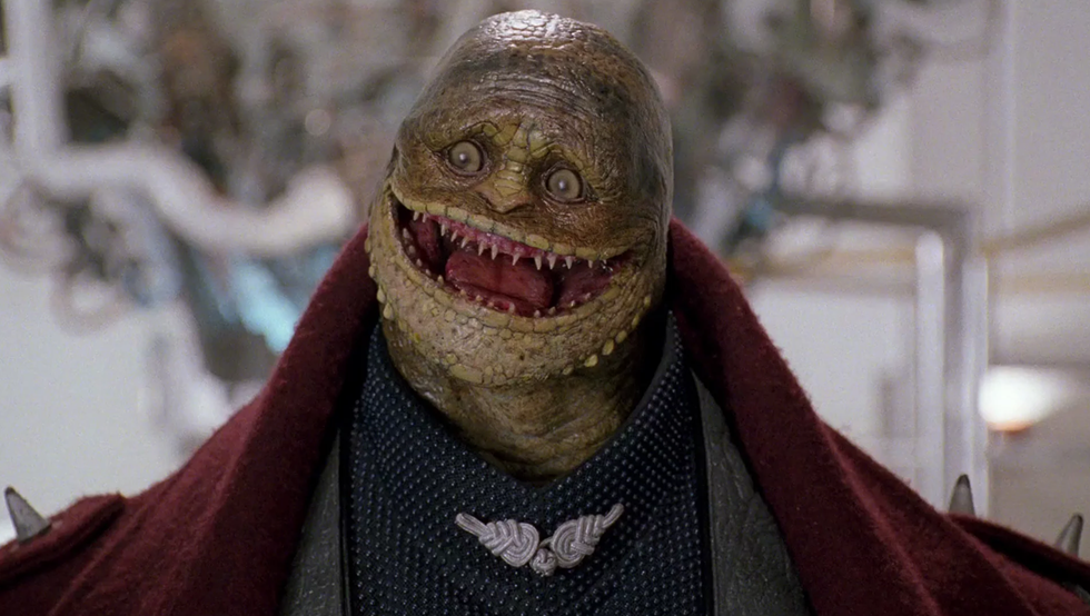 Toad after being de-evolved into a Goomba in 1993's seminal Super Mario Bros.  - BUENA VISTA PICTURES DISTRIBUTION