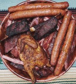 All the meats at Pat's BBQ - SARAH ARNOFF