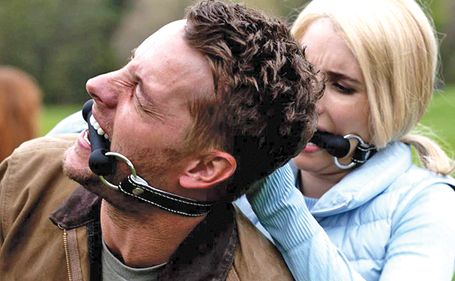 Emma Roberts doing her thing in The Hunt. - UNIVERSAL PICTURES