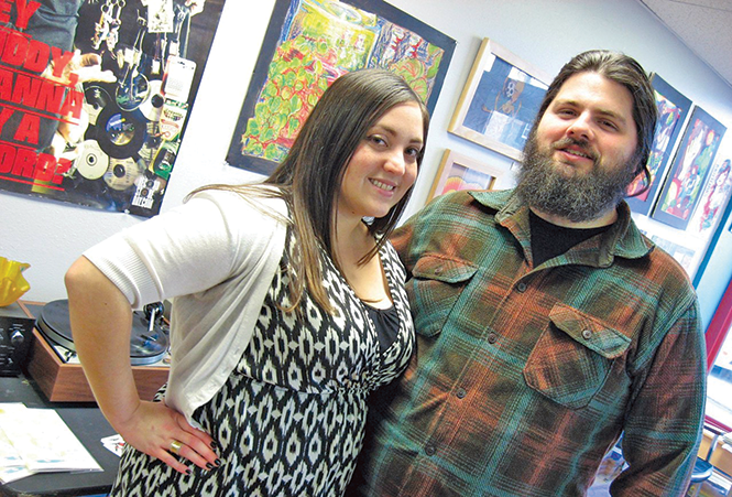 Diabolical Records owners Alana Boscan and Adam Tye - ANDREA MOORE EMMETT