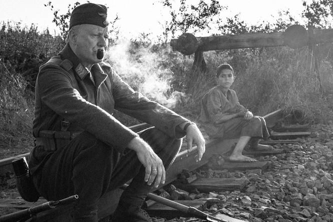 Stellan Skarsgård and Petr Kotlár in The Painted Bird - IFC FILMS
