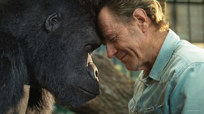 Ivan and Bryan Cranston in The One and Only Ivan - DISNEY+