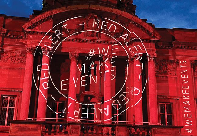 Red Alert Demonstration for #WeMakeEvents in the UK - JEROME WHITTINGHAM