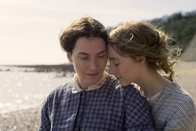 Kate Winslet and Saoirse Ronan in Ammonite - NEON FILMS