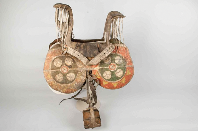 Nez Perce woman's saddle, from the Spalding-Allen Collection