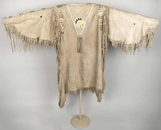 Man's hide shirt from the Spalding-Allen Collection