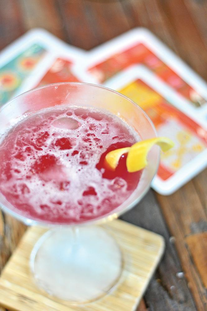 Hibiscus Tea Martini - DEREK CARLISLE