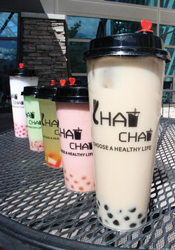 A lineup of delicious beverages at Chat Chat Boba in Orem - MIKA LEE AND CAIT LEE