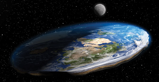 Believers in a flat earth still abound