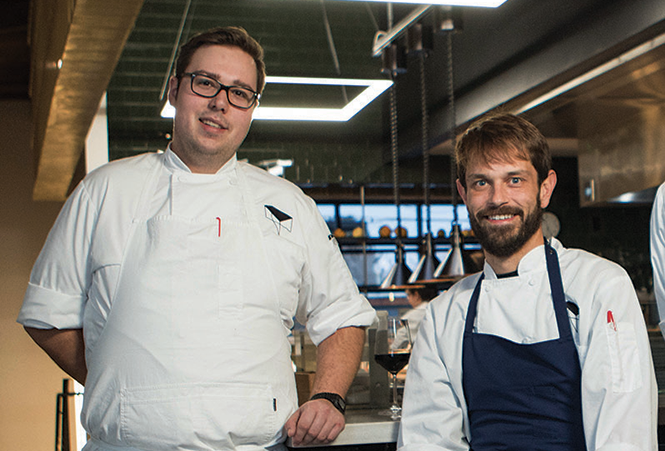Chefs Mike Blocher, left, and partner Nick Fahs, of Table X - JOHN TAYLOR