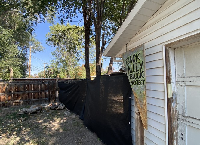Liberty Wells residents are spearheading a city pilot project to clean up and rehabilitate alleyways for community use. - BENJAMIN WOOD