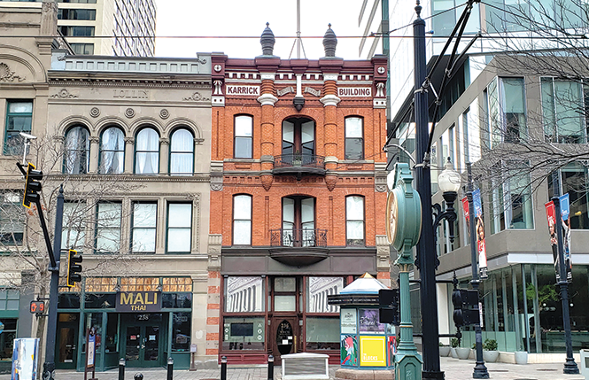 The Karrick, at 236 S. Main, is one of Kletting's oldest buildings still standing