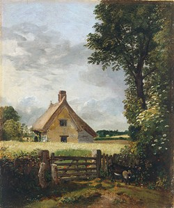 """John Constable's """"A Cottage In a Cornfield"""""""