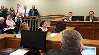 Rep. Rebecca Chavez-Houck, D-Salt Lake City, presents her bill granting End of Life options to terminally ill Utahns. - ERIC ETHINGTON.