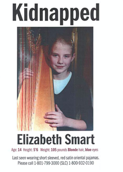 Elizabeth Smart's 2002 kidnapping triggered one of the most high-profile cases in SLCPD history. - FILE