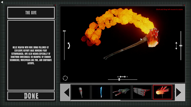 Work might be more fun if I could design a flaming axe all day. - HOLLOW ROBOT