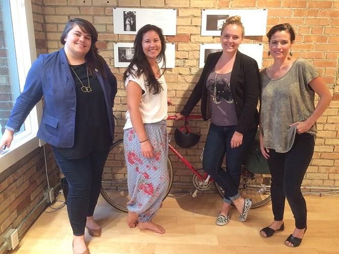 Co-founders (L-R) Jamie Kyle, Sarah May, Desarae Lee & Amy Leininger