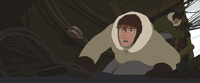 Larson (voiced by Antony Hickling) in the Artic - SHOUT! FACTORY FILMS