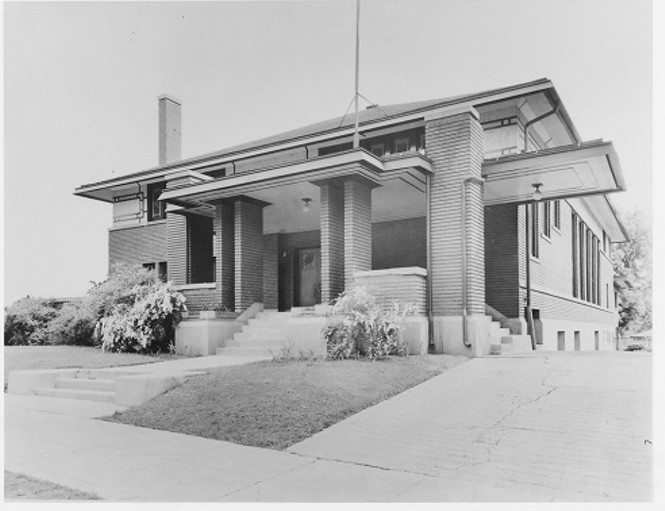 1937 Ladies' Literary Club House. Exterior in 1937 - SPECIAL COLLECTION DEPT. MARRIOTT LIBRARY