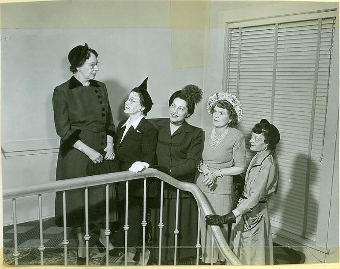 Ladies' Literary Club members. Date Unknown. - LADIES LITERARY CLUB SCRAPBOOK